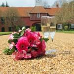 Flowers and champagne - Ingatestone Hall