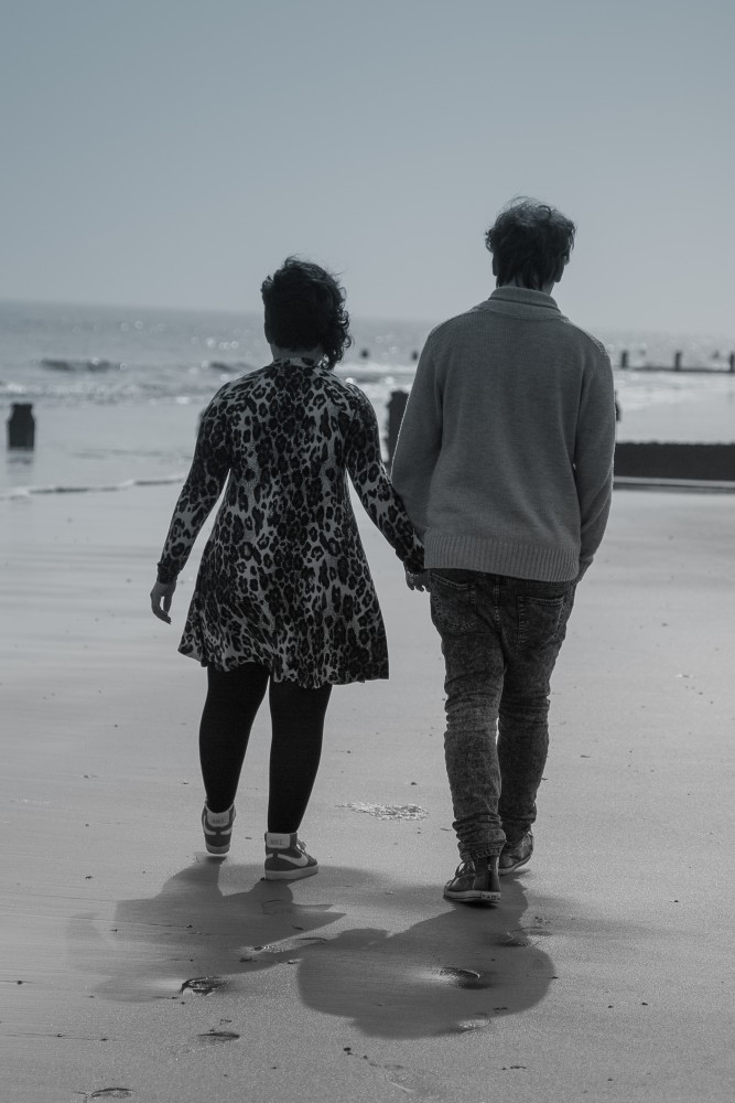 Beach Engagement Shoot, Essex, Wedding Photographer