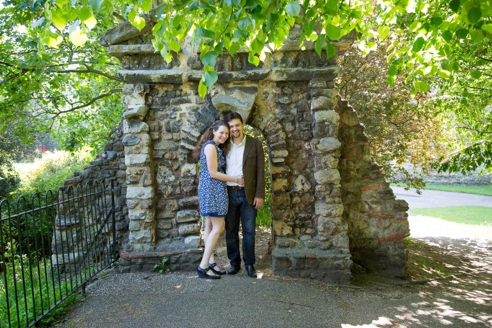 Engagement Shoot, Colchester Castle, Essex Photographer