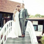 High House Wedding Photography, Essex, Bridge