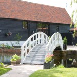 High House Weddings, barn, bridge