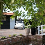 High House Weddings, Essex, Fiat 500 Car