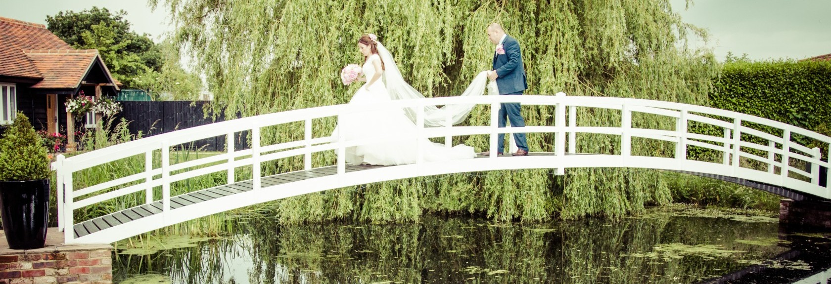 Essex Wedding Photography, High House Bridge