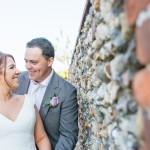 Weddimh couple, stone wall