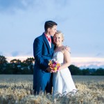 Evening wedding photo, High House Weddings, Essex