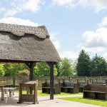 Thatched gazebo, Outdoor wedding, Essex