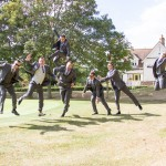 Groomsmen, fun photo, jumping