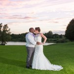 Bride and Groom, Sunset Photo