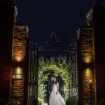 Braxted Park, Night photo, Bride and groom