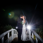 Fennes bridge, night wedding photo
