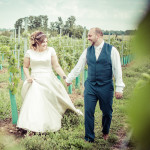Wedding couple, vineyard