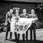 Groomsmen and bride 211