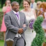 Newlyweds, bride and groom