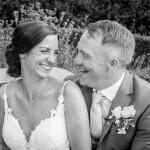 Wedding couple, laughing