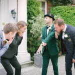 Groom and ushers, fun wedding photo
